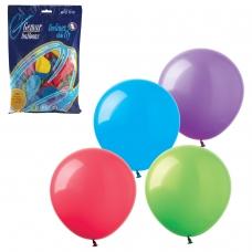 Шары воздушные 8' 21 см, комплект 100 шт., 12 пастельных цветов, в пакете, 1101-0023