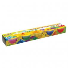 Песок для лепки кинетический ЮНЛАНДИЯ, 5 цветов, 700 г, формочка, картонный рукав