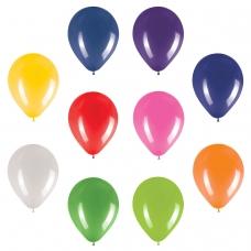Шары воздушные ЗОЛОТАЯ СКАЗКА, 12' 30 см, КОМПЛЕКТ 50 штук, ассорти 10 цветов, пакет