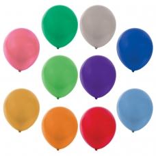 Шары воздушные ЗОЛОТАЯ СКАЗКА, 12' 30 см, КОМПЛЕКТ 50 штук, металлик, ассорти 10 цветов, пакет