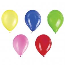 Шары воздушные ЗОЛОТАЯ СКАЗКА, 12' 30 см, КОМПЛЕКТ 10 штук, ассорти 5 цветов, пакет