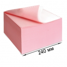 Бумага самокопирующая с перфорацией цветная, 240х305 мм 12', 2-х слойная, 900 комплектов, DRESCHER, 110694