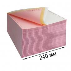 Бумага самокопирующая с перфорацией цветная, 240х305 мм 12', 3-х слойная, 600 комплектов, DRESCHER, 110695