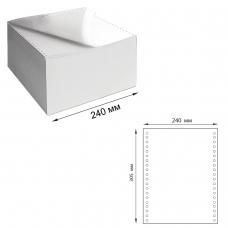Бумага самокопирующая с перфорацией белая, 240х305 мм 12', 3-х слойная, 600 комплектов, DRESCHER, 110757
