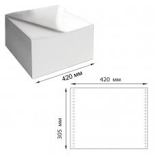 Бумага самокопирующая с перфорацией белая, 420х305 мм 12, 2-х слойная, 900 комплектов, DRESCHER, 110758