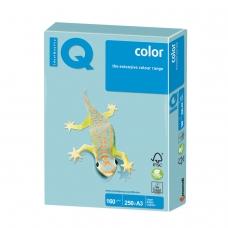 Бумага IQ color, А3, 160 г/м2, 250 л., пастель, голубая, MB30