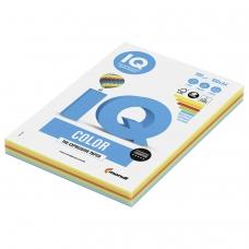 Бумага IQ color, А4, 160 г/м2, 100 л. 5 цв. x 20 л., цветная интенсив RB02