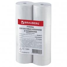 Рулоны для кассовых аппаратов и терминалов, термобумага 80х60х12 60 м, комплект 6 шт., BRAUBERG, 110892