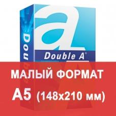 Бумага офисная А5, класс 'А+', DOUBLE A, эвкалипт, 80 г/м2, 500 л., Таиланд, белизна 163% CIE
