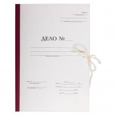 Папка архивная для переплета 'Форма 21', 40 мм, с гребешками, БУРАЯ, 4 отверстия, завязки, STAFF