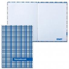 Блокнот 7БЦ, А6, 80 л., обложка ламинированная, клетка, STAFF, 'Шотландка', 110х147 мм, 120953