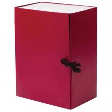Короб архивный, бумвинил, 15 см, 2 х/б завязки, цвет ассорти, до 1400 л., 122806