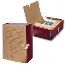 Папка для бумаг архивная, 120 мм, крафт, корешок - бумвинил, 4 х/б завязки, 123204