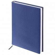 Ежедневник BRAUBERG недатированный, А5, 138х213 мм, 'Favorite', под классическую кожу, 160 л., темно-синий, 123396