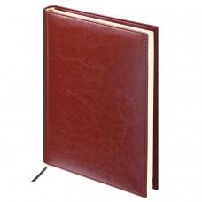 Ежедневник BRAUBERG недатированный, А5, 138х213 мм, 'Imperial', под гладкую кожу, 160 л., коричневый, кремовый блок, 123414