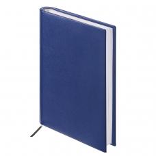 Ежедневник BRAUBERG недатированный, А6, 100х150 мм, 'Select', под зернистую кожу, 160 л., темно-синий, 123481