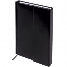 Ежедневник BRAUBERG недатированный, А5, 138х213 мм, 'Towny', фактурная кожа, 160 листов, черный, магнитный клапан, 123785