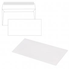 Конверты Е65, КОМПЛЕКТ 1000 штук, отрывная полоса STRIP, белые, 110х220 мм