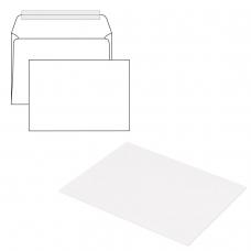 Конверты С4, КОМПЛЕКТ 500 штук, отрывная полоса STRIP, белые, 229х324 мм