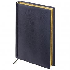 Ежедневник BRAUBERG недатированный, А5, 138х213 мм, 'Iguana', под змеиную кожу, 160 л., черный, кремовый блок, золотой срез, 125089