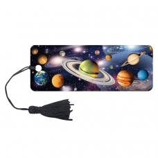 Закладка для книг 3D, BRAUBERG, объемная, 'Вселенная', с декоративным шнурком-завязкой, 125757
