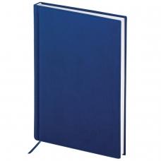 Ежедневник BRAUBERG полудатированный, А5, 138х213 мм, 'New York', под гладкую кожу, 192 л., синий, 125955