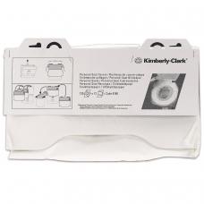 Покрытия на унитаз KIMBERLY-CLARK, 1/2 сложения, 125 штук, 38,1х45,7, комплект 12 штук, белые, диспенсер 601549, 6140