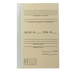 Папка архивная для переплета, 40 мм, без клапанов, переплетный картон, корешок - бумвинил