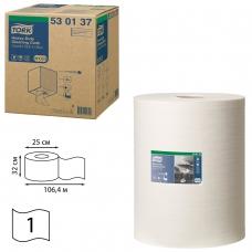 Протирочный нетканый материал TORK Система W1, W2, W3 Premium, 280 л. в рулоне, 38х32 см, 530137