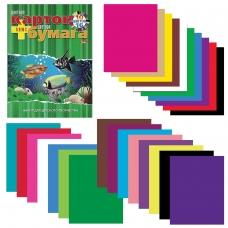 Набор цветного картона и бумаги А4 немелованной, 10+16 цветов склейка HATBER VK, 195х275 мм, Аквариум, 26НКБ4к_09572, N092255
