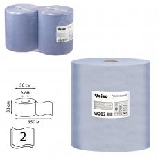 Бумага протирочная VEIRO Система W1, комплект 2 шт., 1000 листов в рулоне, 33х35 см, 2-слойная, Comfort, W202