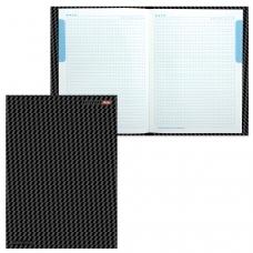 Блокнот 7БЦ, А4, 80 л., выборочный лак, 5-цветный блок, HATBER, 'Carbon Style', 80ББ4влВ1 14359, B197103