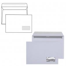 Конверт С4, комплект 500 шт., отрывная полоса STRIP, правое окно, внутренняя запечатка, 229х324 мм, 121102