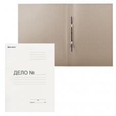 Скоросшиватель картонный мелованный BRAUBERG, гарантированная плотность 440 г/м2, до 200 листов, 128 987