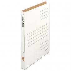 Скоросшиватель из микрогофрокартона STAFF, 30 мм, до 300 листов, белый, 128991