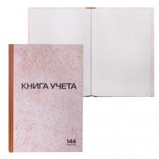 Книга учета 144 л., А4 200*290 мм STAFF, клетка, твердая обложка из картона, нумерация страниц, типографский блок, 130180