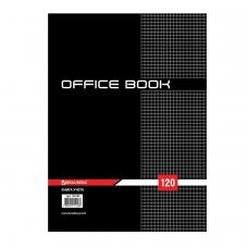 Книга учета 120 л., А4 200*290 мм BRAUBERG, клетка, твердая обложка из картона 7БЦ, матовая пленка, блок офсет, 130183