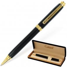 Ручка подарочная шариковая GALANT 'Black', корпус черный, золотистые детали, пишущий узел 0,7 мм, синяя, 140405