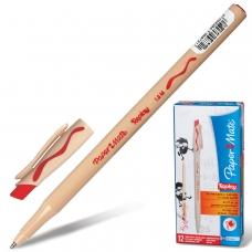 Ручка стираемая шариковая PAPER MATE 'Replay', КРАСНАЯ, корпус бежевый, узел 1,2 мм, линия письма 1 мм, S0190804