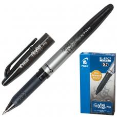 Ручка стираемая гелевая с грипом PILOT 'Frixion Pro', ЧЕРНАЯ, корпус с печатью, линия письма 0,35 мм, BL-FRO-7