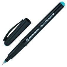 Ручка-роллер CENTROPEN, ЗЕЛЕНАЯ, трехгранная, корпус черный, узел 0,7 мм, линия письма 0,6 мм, 4665/1З