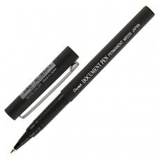 Ручка-роллер PENTEL Япония 'Document Pen', ЧЕРНАЯ, корпус черный, узел 0,5 мм, линия письма 0,25 мм, MR205-A