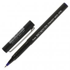 Ручка-роллер PENTEL Япония 'Document Pen', СИНЯЯ, корпус черный, узел 0,5 мм, линия письма 0,25 мм, MR205-C