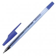 Ручка шариковая STAFF AA-927, СИНЯЯ, корпус тонированный, хромированные детали, 0,7 мм, линия 0,35 мм, BP105