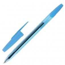 Ручка шариковая масляная STAFF 'Office', корпус тонированный синий, узел 1 мм, линия письма 0,7 мм, синяя, BP177