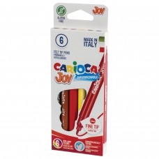 Фломастеры CARIOCA Joy, 6 цветов, суперсмываемые, вентилируемый колпачок, картонная коробка, 40613