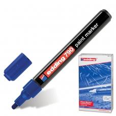 Маркер-краска лаковый EDDING '790', 2-4 мм, СИНИЙ, круглый наконечник, пластиковый корпус, E-790/3