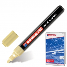 Маркер-краска лаковый EDDING '790', 2-4 мм, ЗОЛОТОЙ, круглый наконечник, пластиковый корпус, E-790/53
