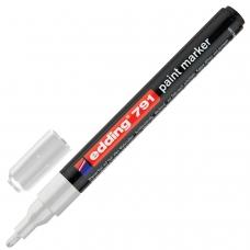 Маркер-краска лаковый EDDING 791, 1-2 мм, БЕЛЫЙ, круглый наконечник, пластиковый корпус, E-791/49