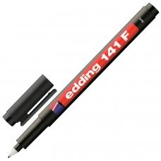 Маркер перманентный для любой гладкой поверхности EDDING 141, ЧЕРНЫЙ, 0,6 мм, пластиковый наконечник, E-141/1